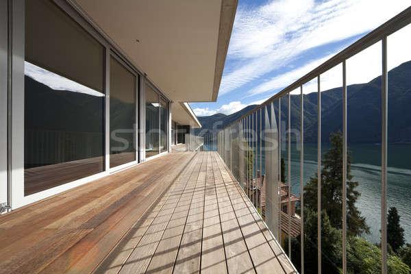 современных дома красивой пентхауз озеро мнение Сток-фото © alexandre_zveiger