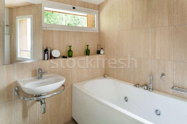 Interieur badkamer huis muur spiegel Stockfoto © alexandre_zveiger