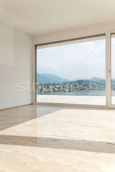 Beautiful penthouse, empty living room Stock photo © alexandre_zveiger
