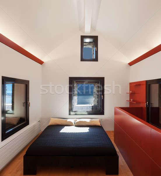 Dormitorio ático casa espacio verde Foto stock © alexandre_zveiger