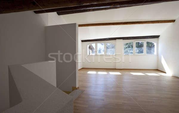 интерьер классический деревенский квартиру пустой комнате Сток-фото © alexandre_zveiger