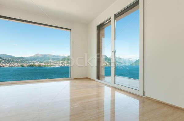 Interieur lege kamer Windows moderne huis venster Stockfoto © alexandre_zveiger