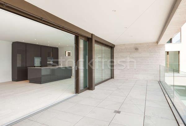 Daire geniş balkon güzel modern mutfak Stok fotoğraf © alexandre_zveiger