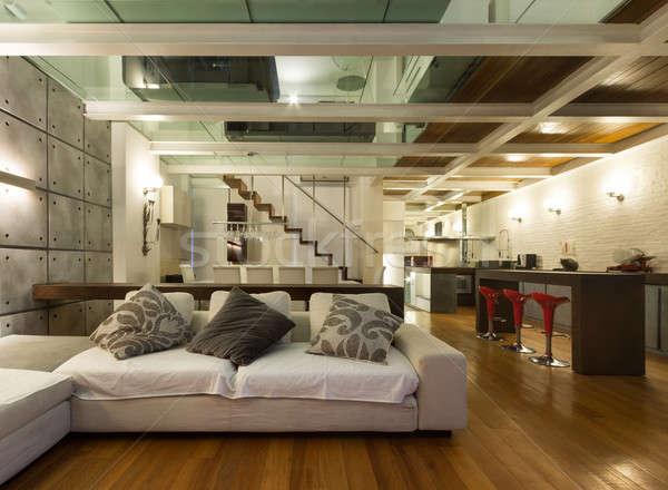 Interni ampia architettura moderno mobili Foto d'archivio © alexandre_zveiger