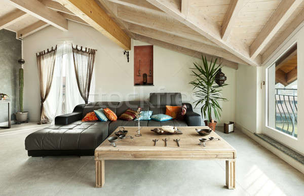 interior new loft, ethnic furniture, living room  Stock photo © alexandre_zveiger