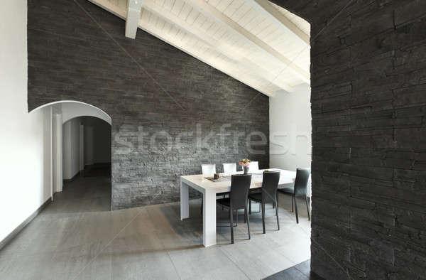 modern apartment, livingroom Stock photo © alexandre_zveiger