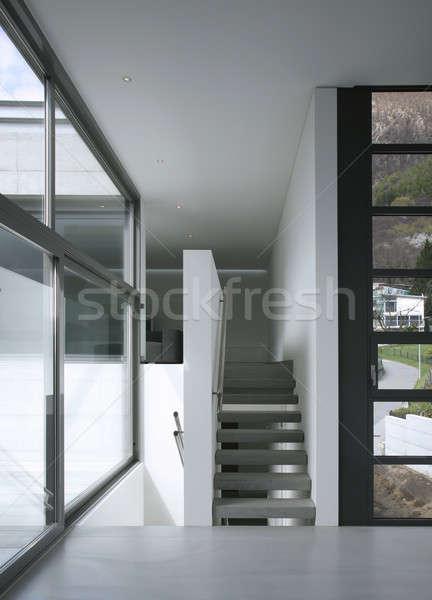 Moderne home gang villa ontwerp beton Stockfoto © alexandre_zveiger