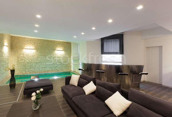 Foto stock: Interior · amplio · arquitectura · moderna · muebles