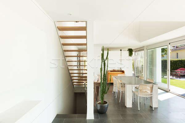 Interior moderna casa Villa amplio comedor Foto stock © alexandre_zveiger