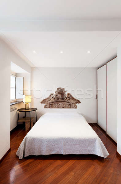 Elegant bedroom with wall decoration Stock photo © alexandre_zveiger