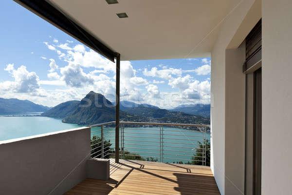 Varanda moderno casa panorâmico apartamento paisagem Foto stock © alexandre_zveiger