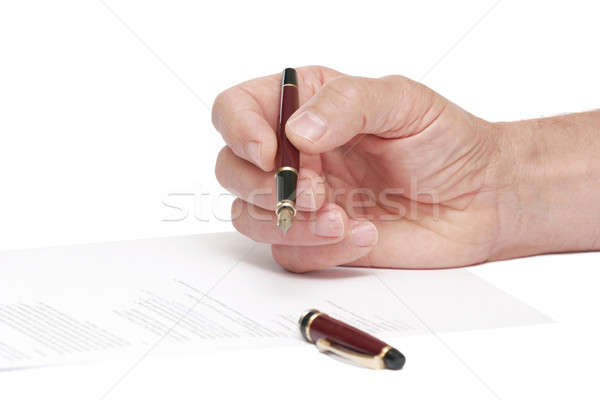 signing a document Stock photo © alexandrenunes