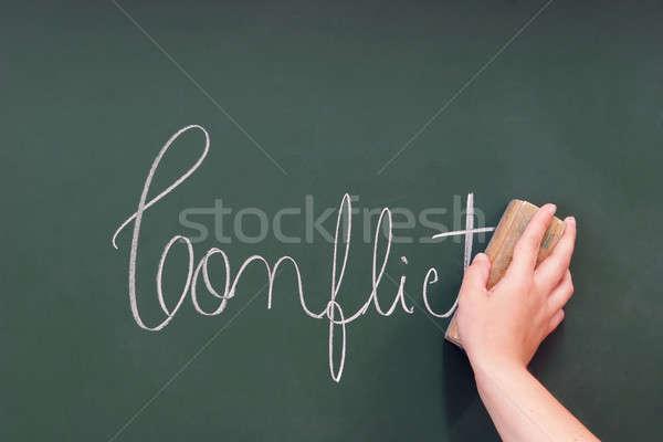 conflict written in a blackboard Stock photo © alexandrenunes