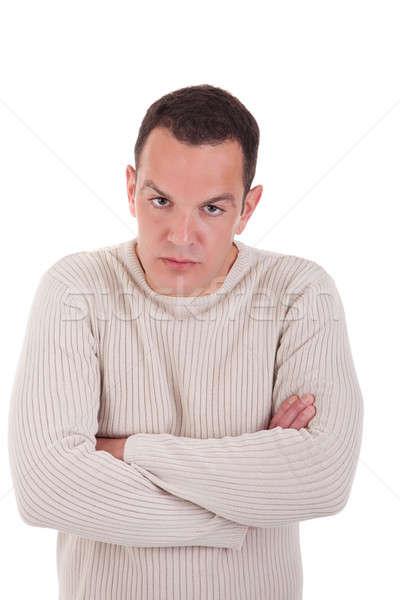 Homem chateado isolado branco Foto stock © alexandrenunes
