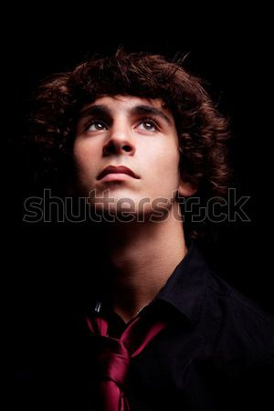 young man looking up Stock photo © alexandrenunes