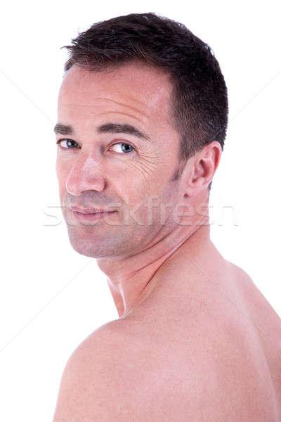 Hombre guapo top-less aislado blanco agua Foto stock © alexandrenunes