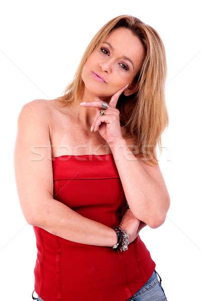 beautiful middle-age woman Stock photo © alexandrenunes