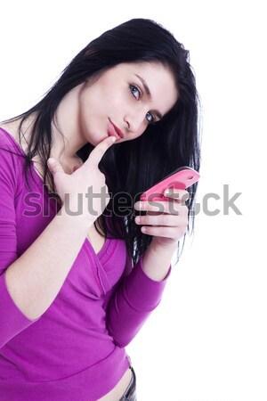 Young pretty women with thumb down Stock photo © alexandrenunes
