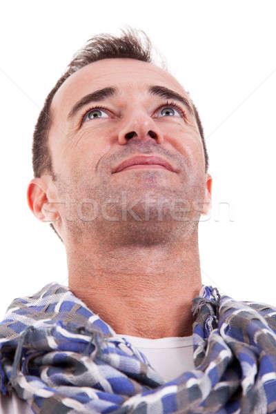 Portrait of a handsome middle-age man smiling Stock photo © alexandrenunes