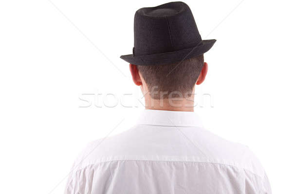 man on his back with a black hat on Stock photo © alexandrenunes