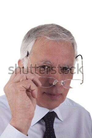 young business man in profile Stock photo © alexandrenunes
