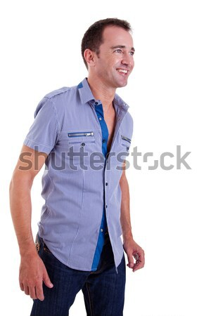 Portrait of a handsome happy middle-age man Stock photo © alexandrenunes
