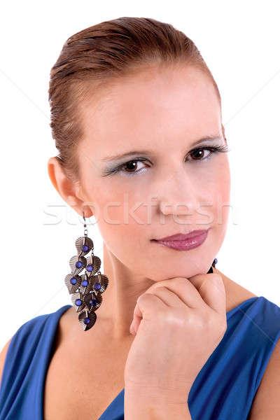 Stok fotoğraf: Güzel · mutlu · kadın · bakıyor