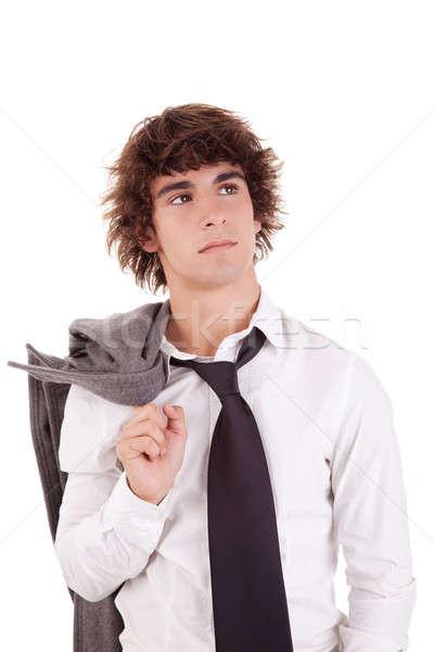 Portrait jeunes homme d'affaires isolé blanche Photo stock © alexandrenunes