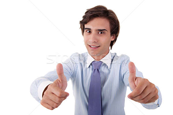 young businessman giving consent, with thumb up Stock photo © alexandrenunes