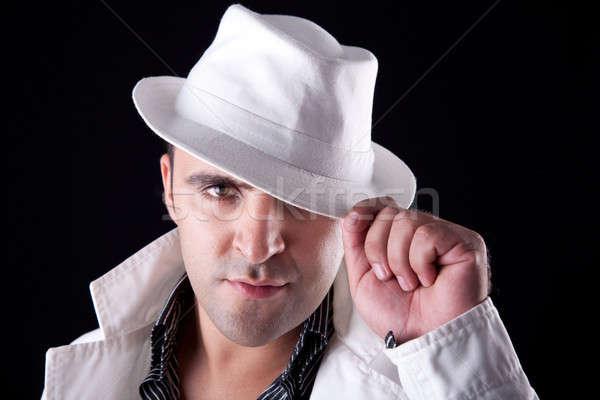 Retrato homem branco seis casaco isolado Foto stock © alexandrenunes