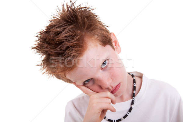 Stock photo: cute bored, looking to camera