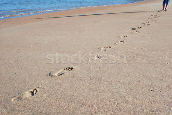 footprints in the sand Stock photo © alexandrenunes