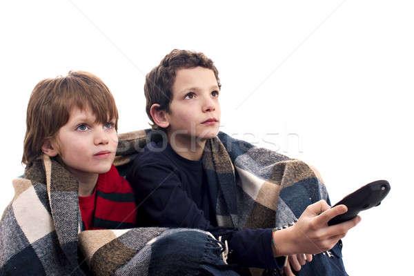 children watching television Stock photo © alexandrenunes