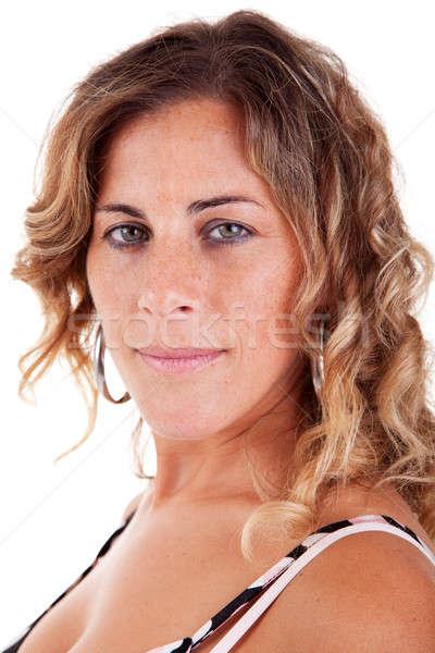 Belo elegante mulher madura isolado branco Foto stock © alexandrenunes