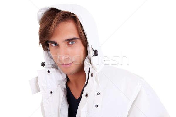 Retrato moço roupa isolado branco Foto stock © alexandrenunes