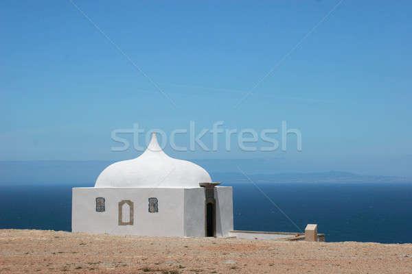 Maison blanche visage mer belle paysage Pâques Photo stock © alexandrenunes
