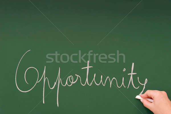 Opportunity written on a blackboard Stock photo © alexandrenunes