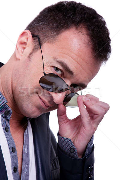 Portrait of a handsome middle-age man with sun glasses Stock photo © alexandrenunes