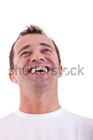 Portrait of a handsome middle-age man happy Stock photo © alexandrenunes
