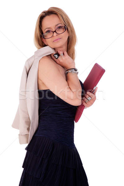 beautiful middle-age woman, with documents Stock photo © alexandrenunes