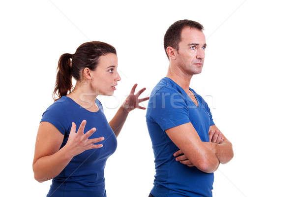 woman arguing with a man Stock photo © alexandrenunes