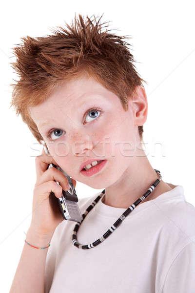 Bonitinho menino para cima isolado branco estúdio Foto stock © alexandrenunes