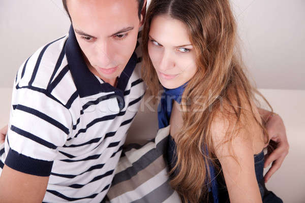 Casal sessão sofá amor Foto stock © alexandrenunes