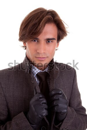 Portrait of a young businessman, in autumn/winter clothes Stock photo © alexandrenunes