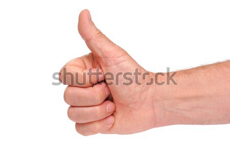 Thumbs up hand sign Stock photo © alexandrenunes