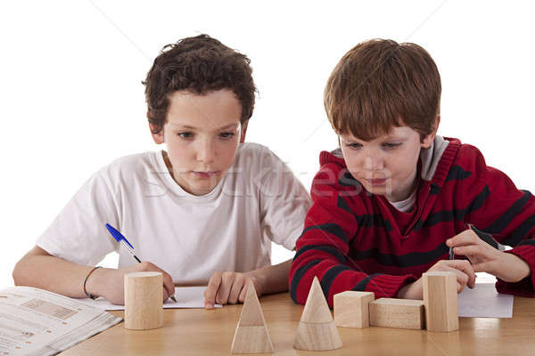 Two students in math´s class Stock photo © alexandrenunes