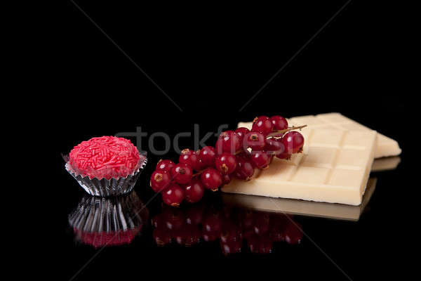 chocolate and currants - brigadier of red-fruits Stock photo © alexandrenunes