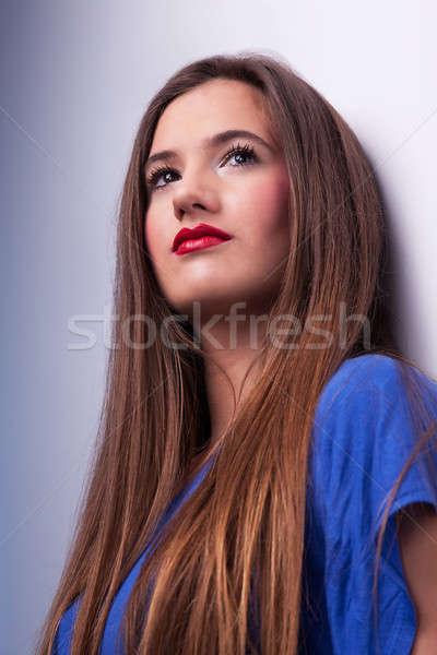 Feliz bela mulher mulher menina Foto stock © alexandrenunes