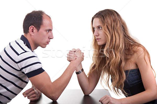one woman and one man wrestling Stock photo © alexandrenunes