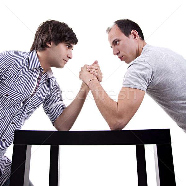 two young men wrestling Stock photo © alexandrenunes